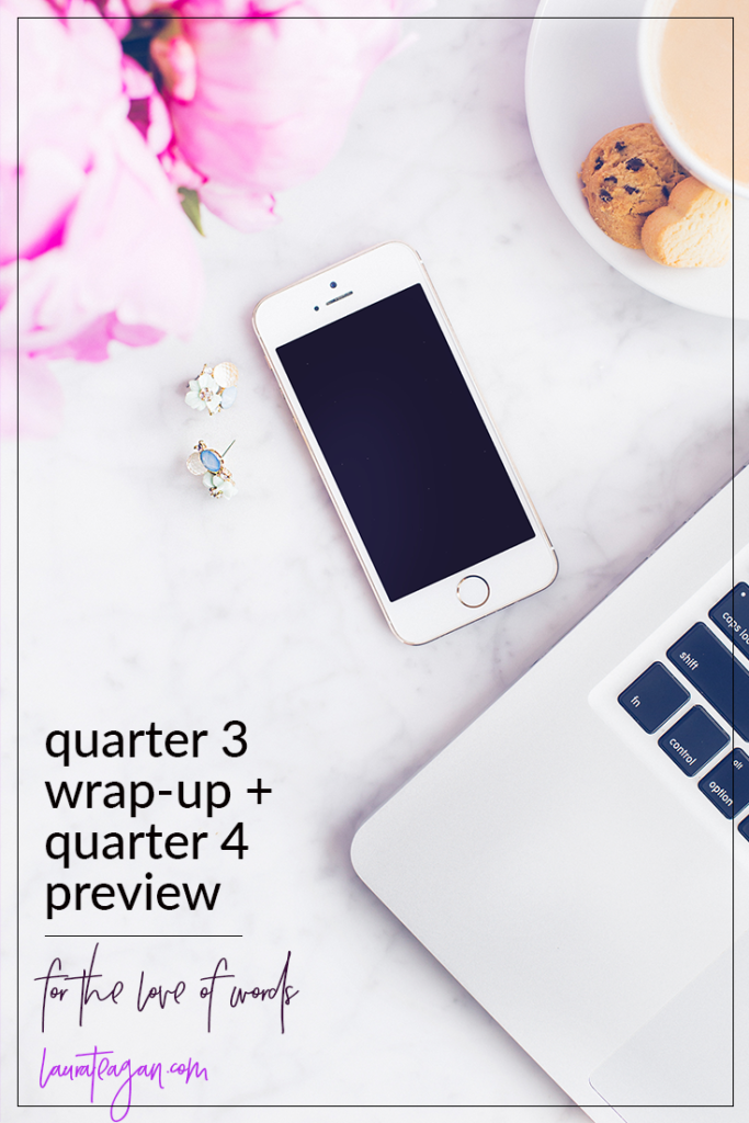 For the Love of Words: Quarter 3 Wrap-Up and Quarter Four Preview