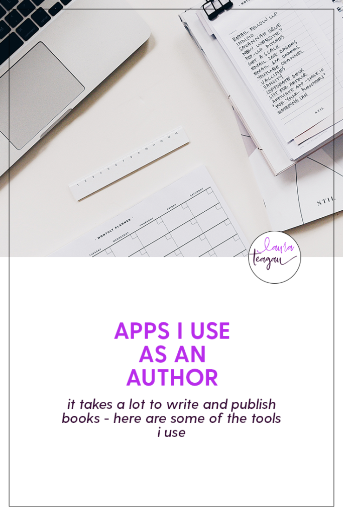 Apps I Use as an Author