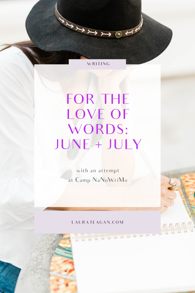 For the Love of Words: June and July